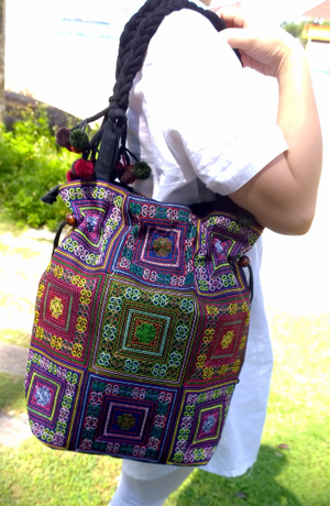 Fair Trade Artisanic Bucket Bag - Style Me Love