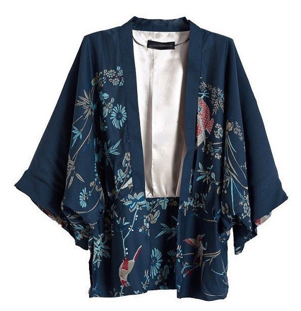 Blue Kimono Cover up - Style Me Love