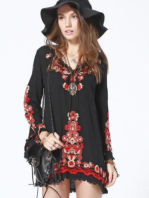 Bohemian Embroidery Dress - Style Me Love