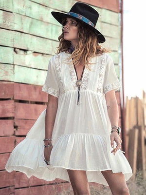 Attica White Boho Dress - Style Me Love