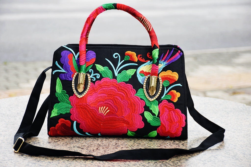 Rose Embroidery Handbag - Style Me Love