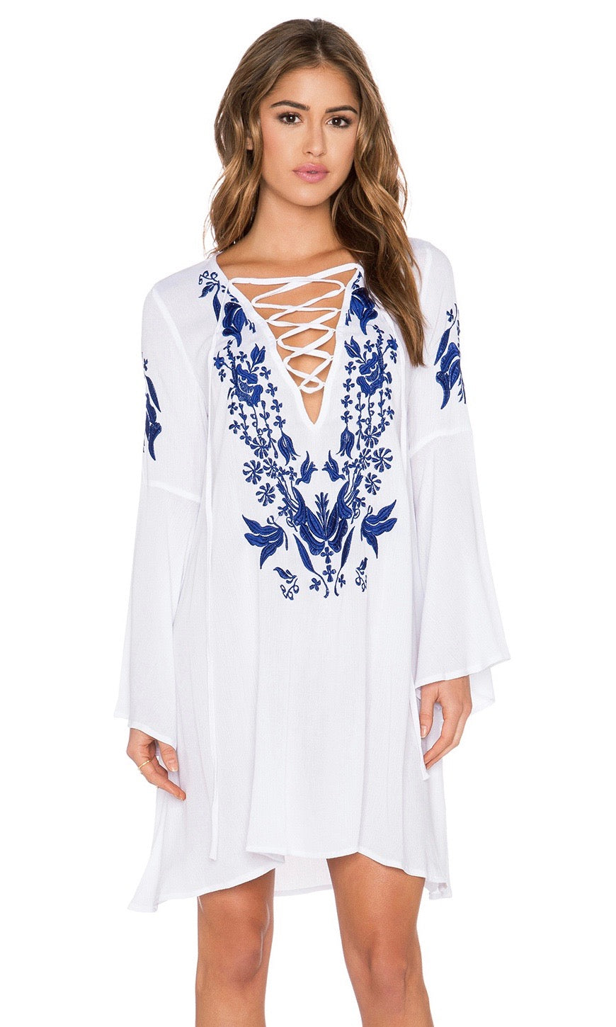 Gypsy Embroidery Dress - Style Me Love