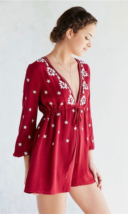 Little Red Romper - Style Me Love