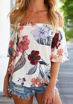 Floral White Top - Style Me Love