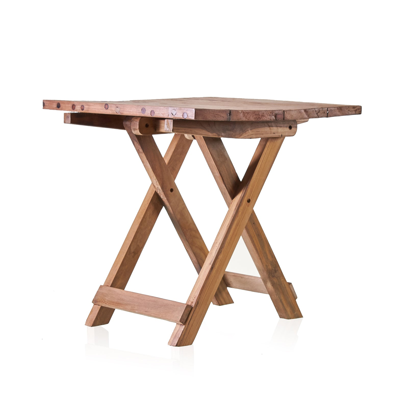 Square Folding Coffee Table - 50cm - Recycled Wood