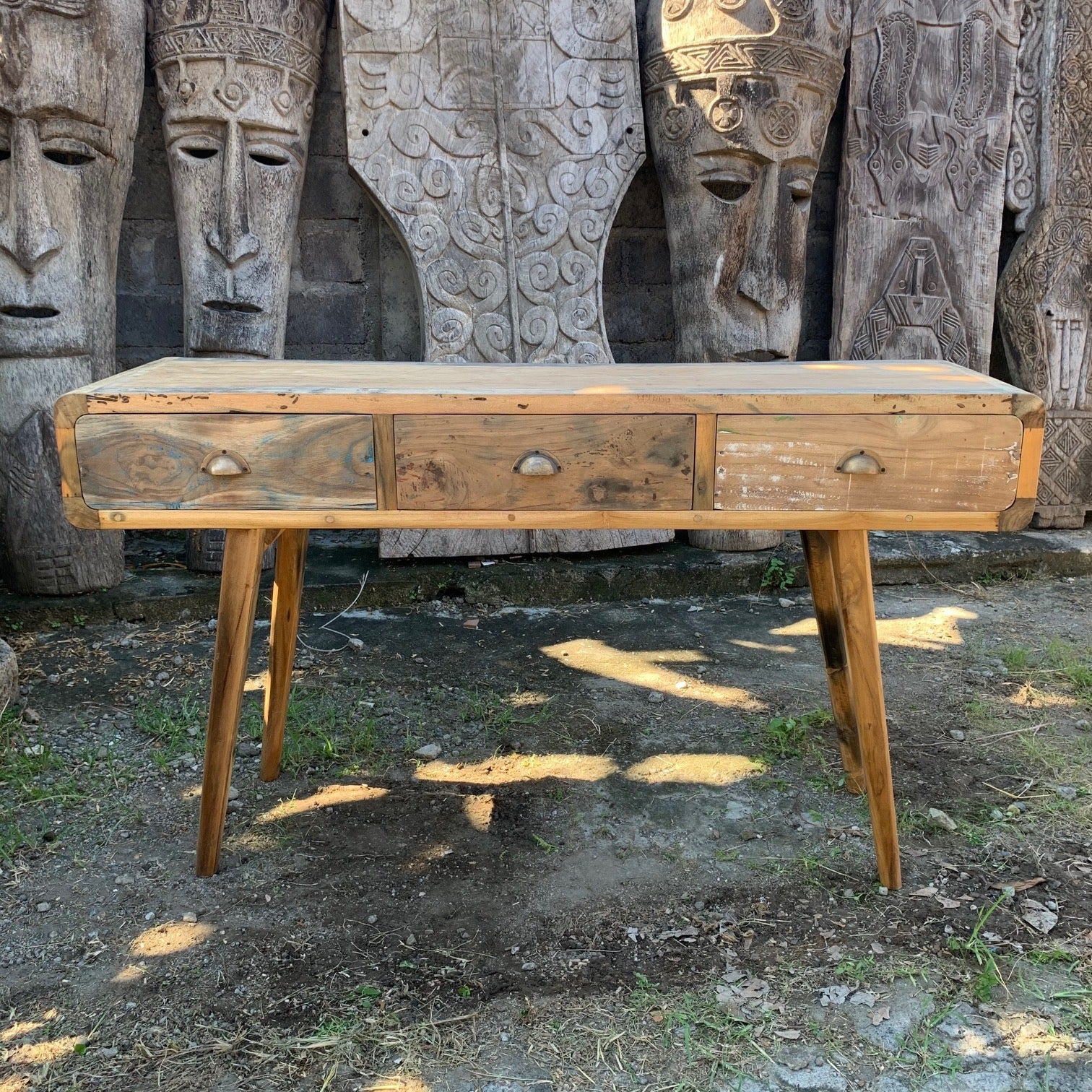 Console Table - Recycled Wood - 150x50x80cm