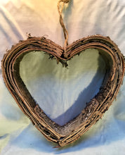 Load image into Gallery viewer, Birch bark hanging handmade heart