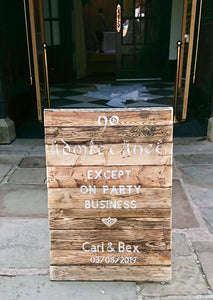 Wedding greeting board (bespoke)