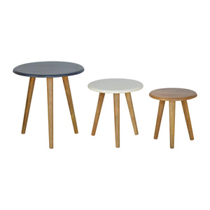 Nordic Style Stool Set of 3 (Coloured)