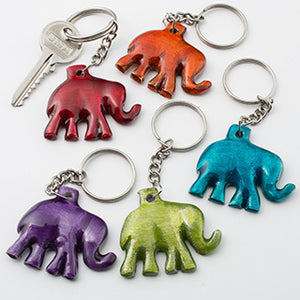Elephant Keyring in Recycled Aluminium