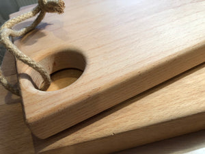 Oak Chopping board with rope tie