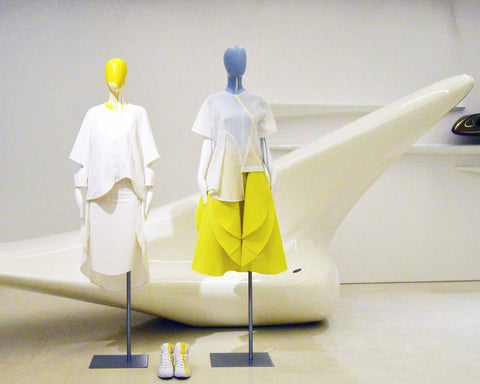 JUDY WU CURVE EXHIBITION AT ZAHA HADID JAKET N SKIRTS
