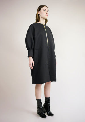 DROPPED SHOULDER COCOON COAT