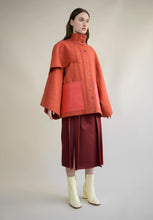 Load image into Gallery viewer, WOOL AND LEATHER KIMONO JACKET