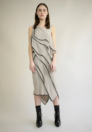 SILK CREPE LAYER DRESS