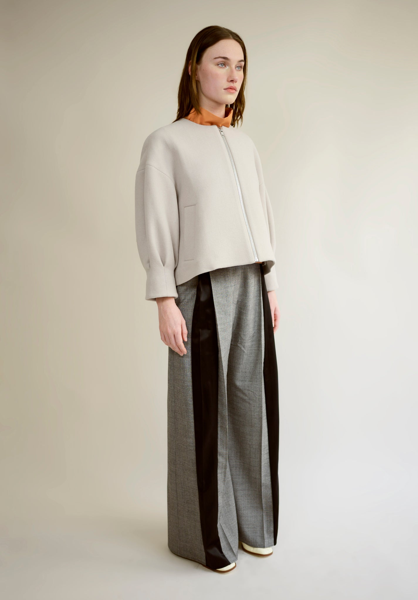 WOOL CROPPED COCOON JACKET
