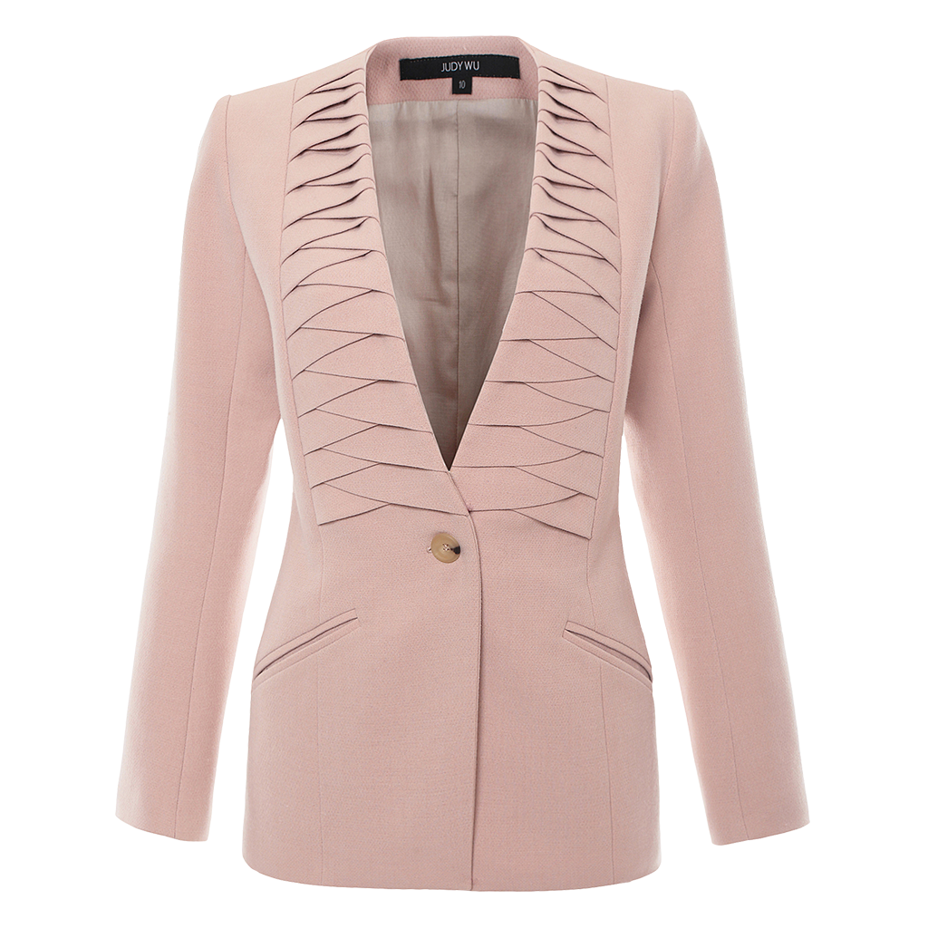 Pleated Tailor Jacket Blazer