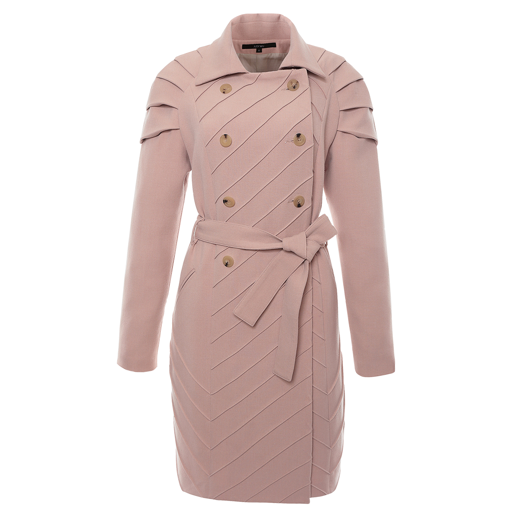 Pleated Shoulder Trench Coat