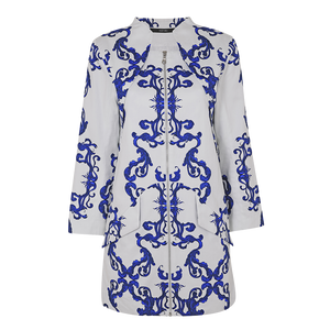 Blue White Porcelain Coat Dress