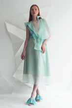 Load image into Gallery viewer, Origami Bird Silk Organza Dress