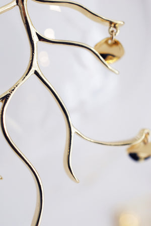 Branch Earrings in Gold Finish