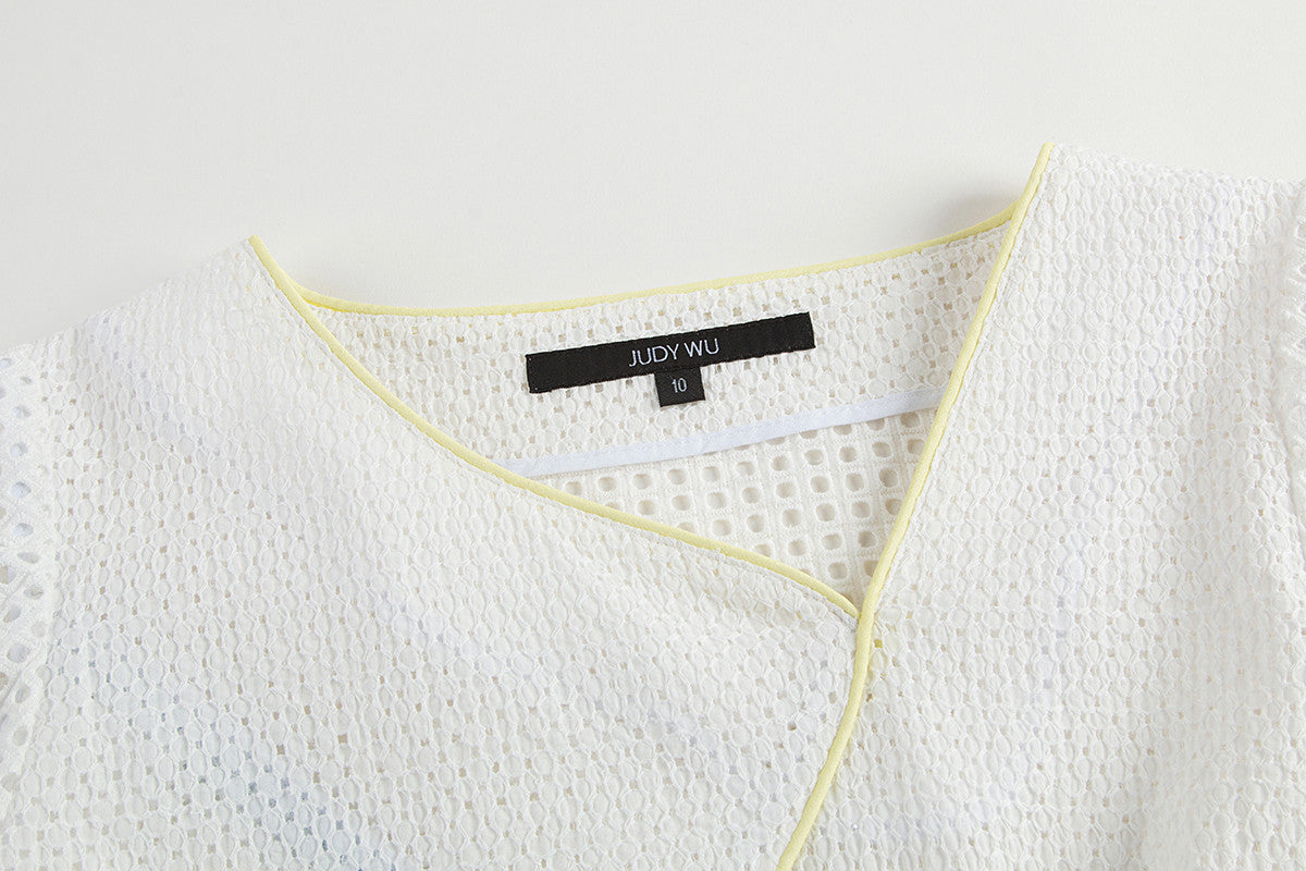 Asymmetric Top collar close up