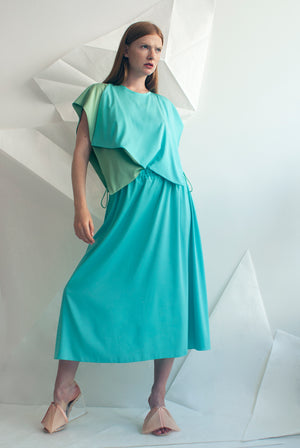 Celeste Crepe Wing Dress