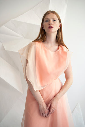 Asymmetric Layer Wing Dress