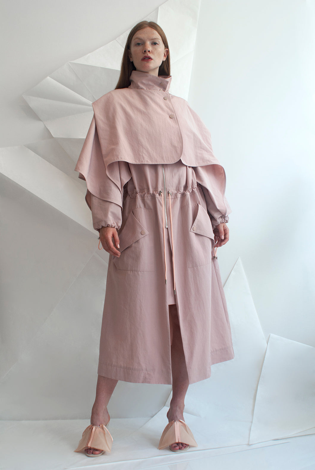 Water-resistant Trench with Removable Cape