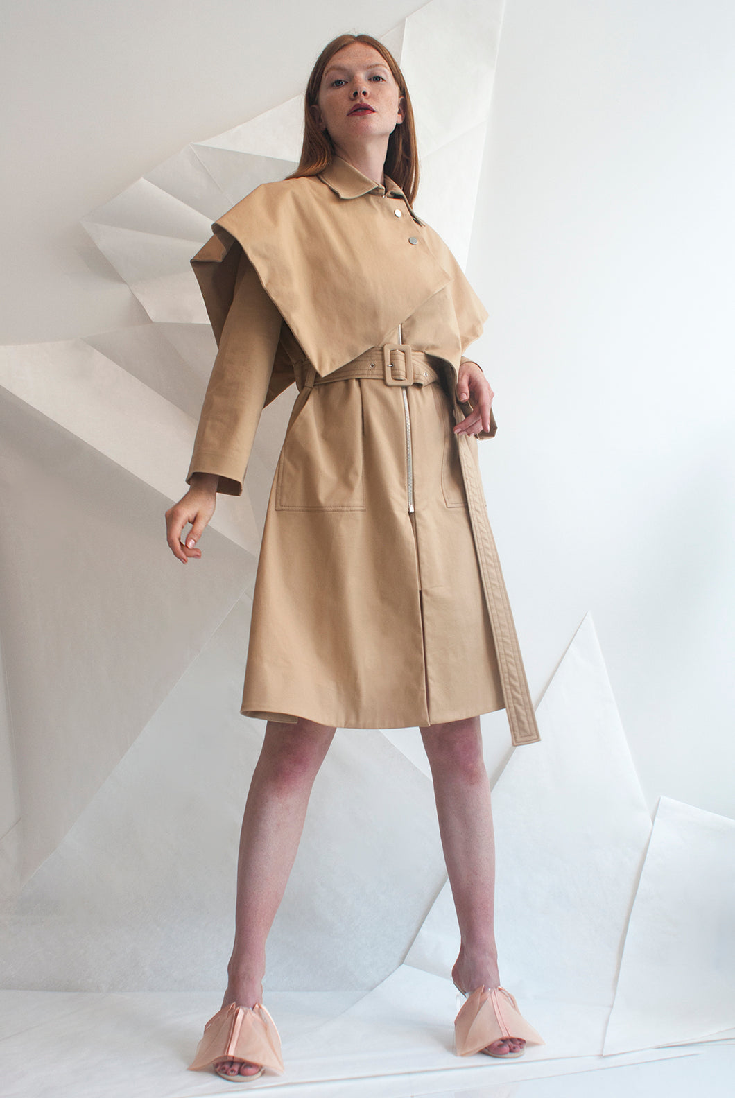 Wing Structured Cotton-gabardine Trench Coat