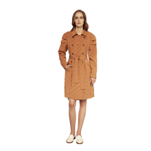 Load image into Gallery viewer, Pleated Shoulder Trench Coat