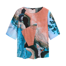 Load image into Gallery viewer, water print silk top