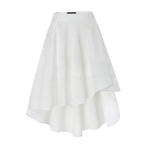 high-low skirt front view