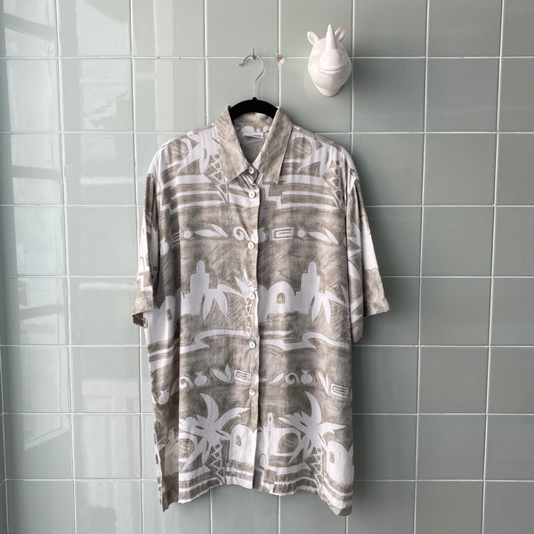 CAMISA GREY ABSTRACT