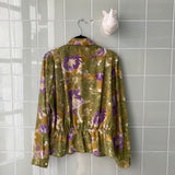 CAMISA GREEN FLOWERS
