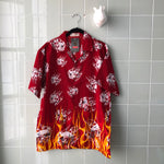 CAMISA FLAMES RED - Ghetto Gato Vintage Alicante Ropa