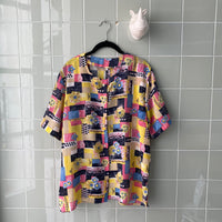 CAMISA CRAZY YELLOW FLWRS - Ghetto Gato Vintage Alicante Ropa