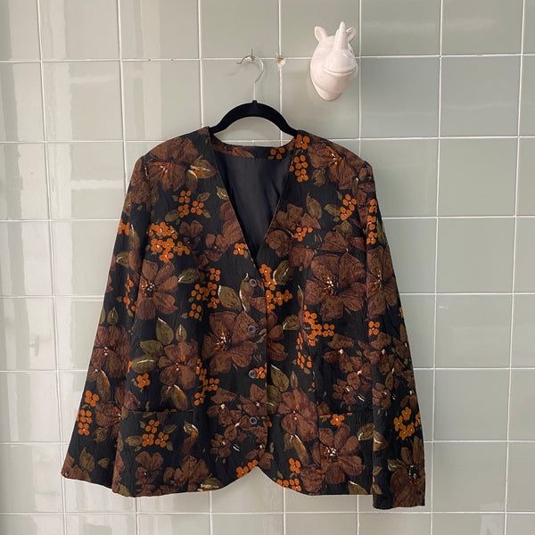 CHAQUETA FLOWERS XL