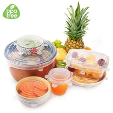 Load image into Gallery viewer, Zero-Waste EcoLids (6 piece set)
