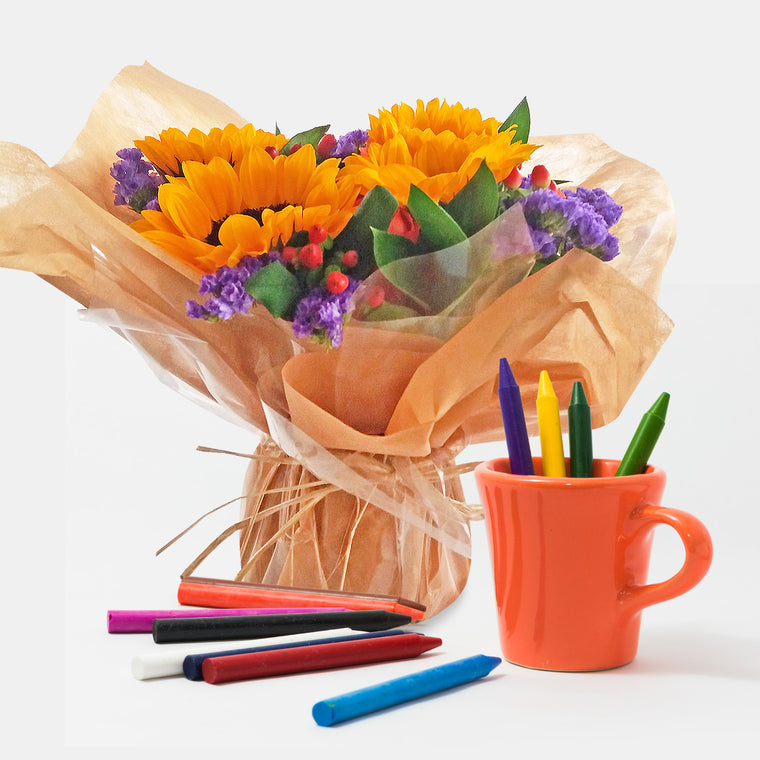 Centerpieces Crayons at Play party - EbloomsDirect