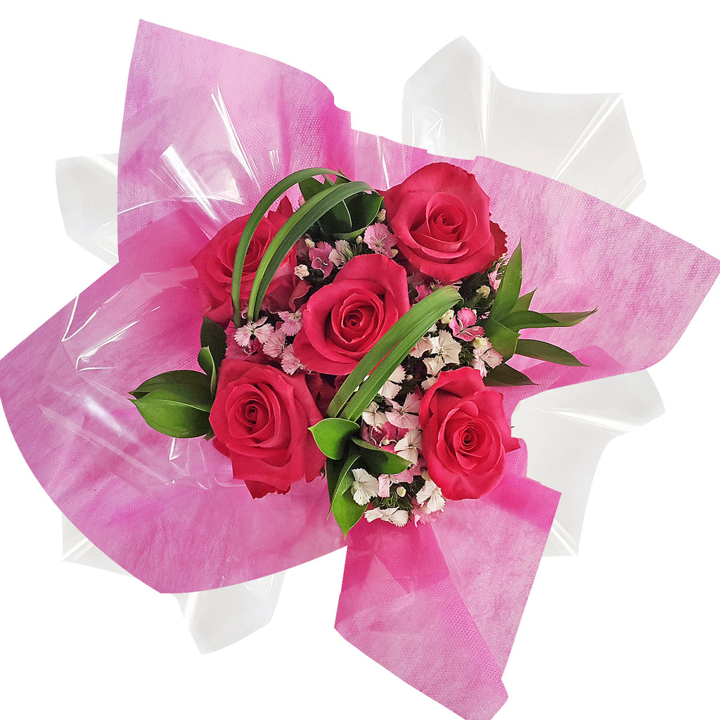 Centerpieces Touch of Class party Hot pink - Pack 5 - EbloomsDirect