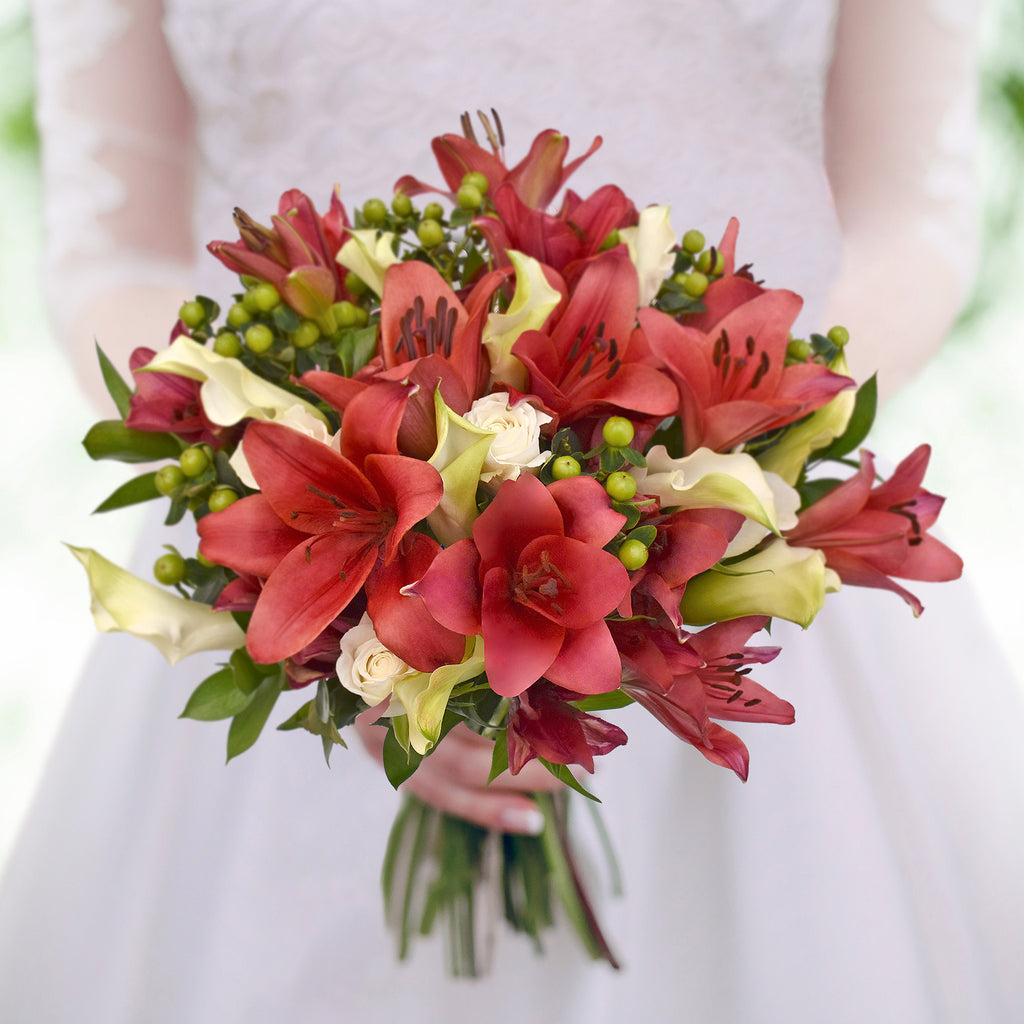 30 stems Mixed bouquet 50cm Royal Affair - White and Red - Pack 5- EbloomsDirect