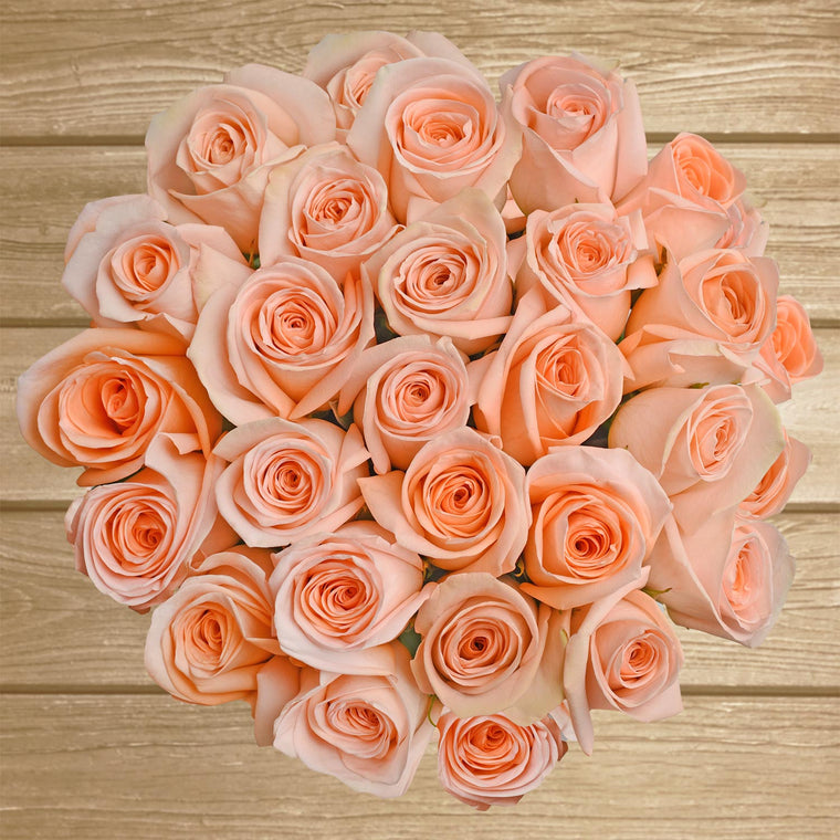 Peach Roses - EbloomsDirect - Farm Fresh Weddings & Events 2019-2020✔
