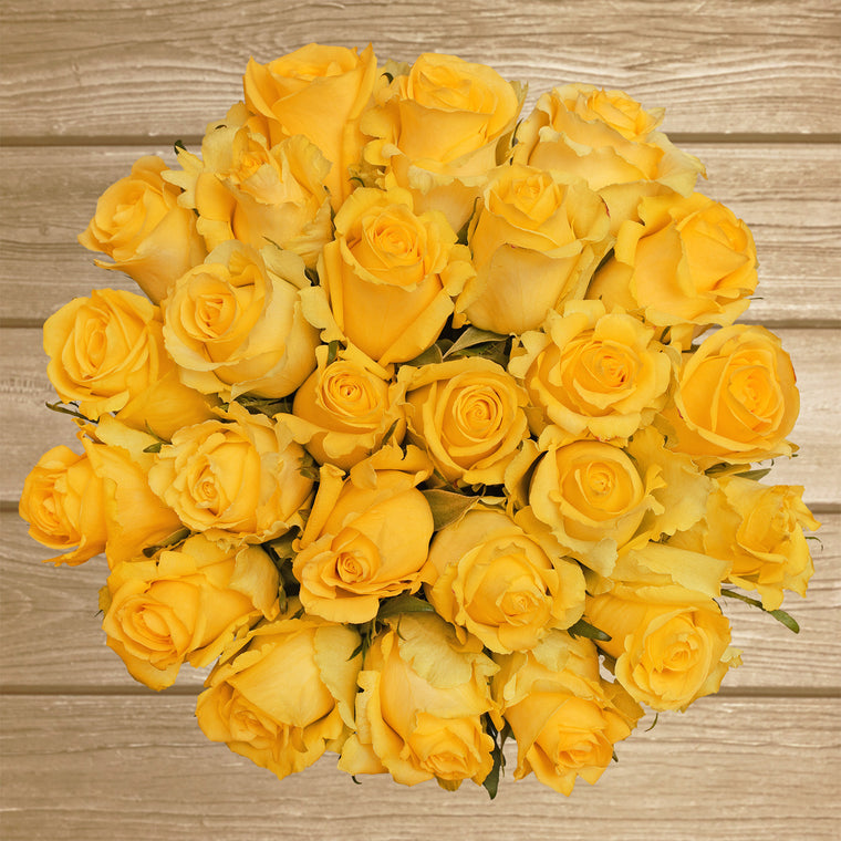 Roses Yellow - 50 stems- EbloomsDirect - Farm Fresh Weddings & Events 2019-2020✔