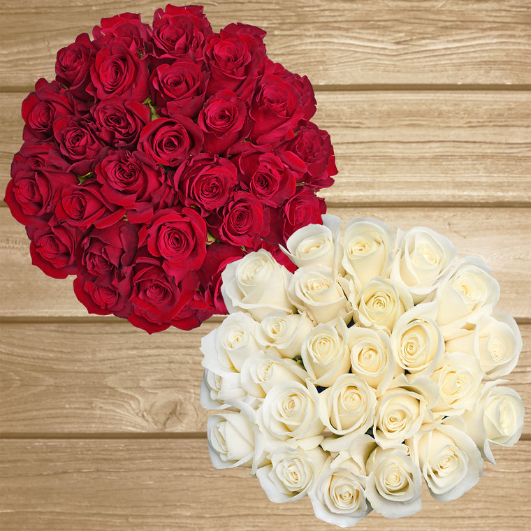 Red and White Roses -  EbloomsDirect - Farm Fresh Weddings & Events 2019-2020✔