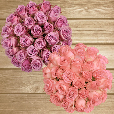Duo lavender and pink roses thebest flower arrangements centerpieces and bouquets ot order online for any ocassion  and Valentine's day