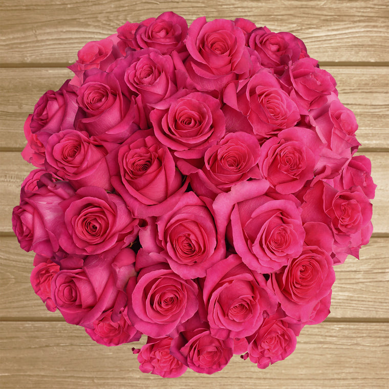 Hot Pink Roses - EbloomsDirect- Farm Fresh Weddings & Events 2019-2020✔