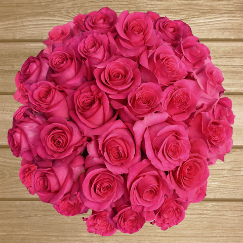 Hot pink Roses the best flower arrangements centerpieces and bouquets to order online for any ocasssion  and Valentine's day