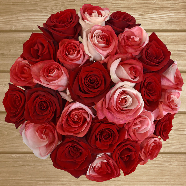 ►Red & Bi-color Red/White Tinted Roses - EbloomsDirect Farm Fresh  Weddings & Events 2018-2019✔