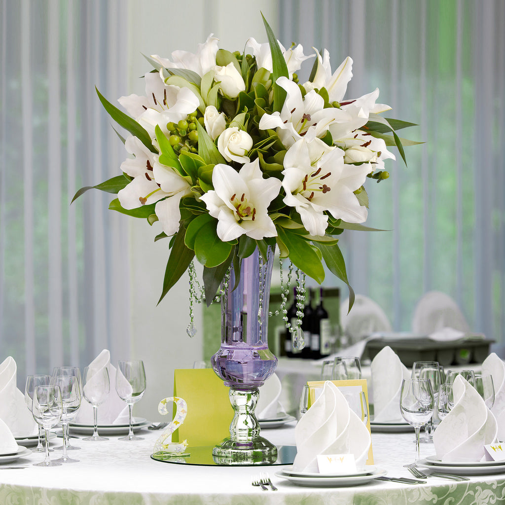 White Wedding centerpieces - Simple Me! - EbloomsDirect
